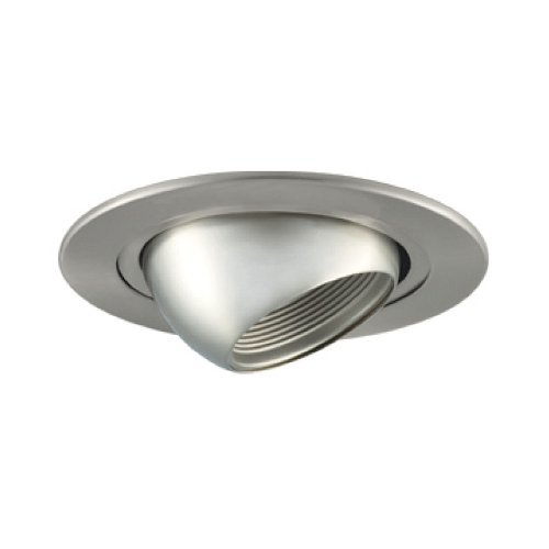 Jesco Lighting TM205ST 2-Inch Aperture Line Voltage Trim Recessed Light, Adjustable Eyeball, Satin Chrome Finish by Jesco Lighting Group