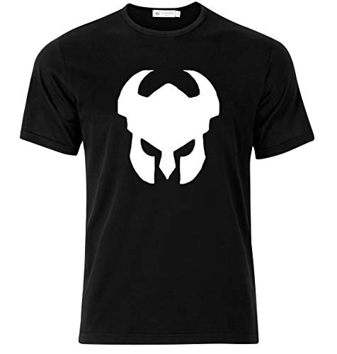 Bonus Creation Warrior Viking Knight Medievil Helmet T-Shirt Modern Quality T-Shirt (Medium) Black