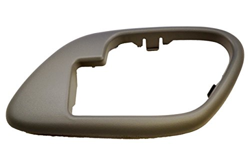 PT Auto Warehouse GM-2576G-2RH - Inside Interior Inner Door Handle Bezel/Trim, Gray - without Lock Hole, Passenger Side ()