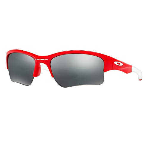 Oakley Quarter Jacket Non-Polarized Iridium Rectangular Sunglasses,Redline,61 mm (Youth - Oakley Jacket Red