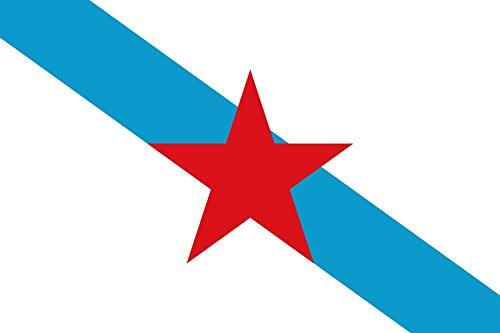 DIPLOMAT-FLAGS Galega nacionalista | Nacionalista de esquerda da Galícia Bandera | bandera paisaje | 0.06m² | 20x30cm...