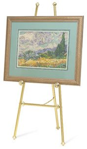 Testrite Baroque Display Easel - Brass-Tone ()