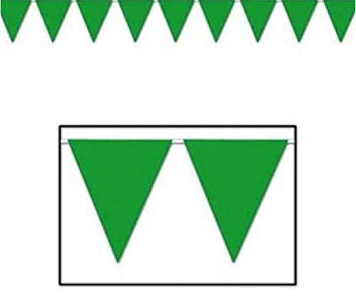 FX 100 Foot Green Pennant Banner 12
