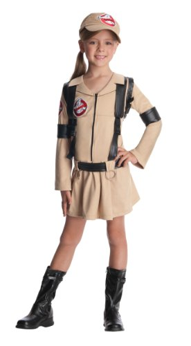[Ghostbuster Girls Costume, Small] (Ghostbuster Costume Backpack)