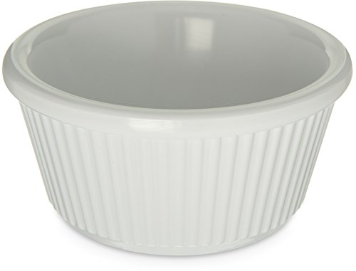 - Carlisle S28202 Melamine Fluted Ramekin, 3 oz. Capacity, White (Case of 48)