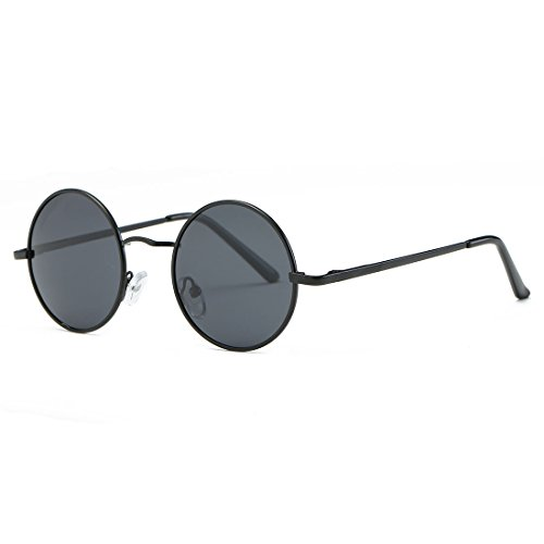 AEVOGUE Polarized Sunglasses Small Round Lens Metal Frame Retro Unisex Glasses AE0518