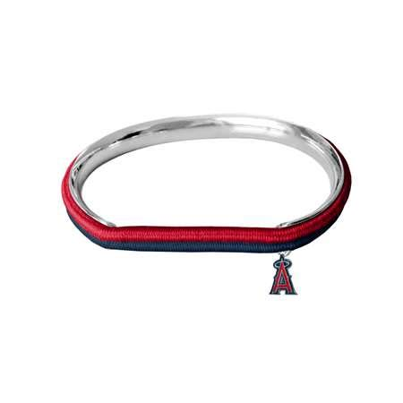 Littlearth MLB Los Angeles Angels of Anaheim 600439-Anglhair Tie Bangle, Multicolor, One ()