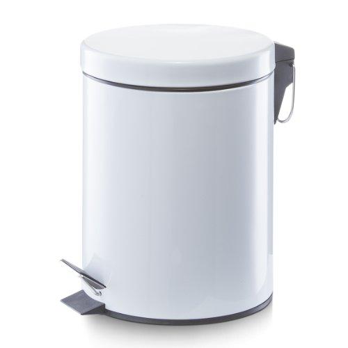 Zeller 18700 Treteimer, 5 Liter, Metall, ø 20.5 x 28 cm, weiß