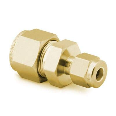 1//4 in Tube Fitting x 1//16 in Brass B-400-6-1 Tube OD Reducing Union