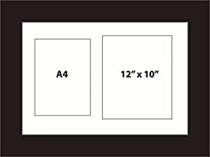 kwik picture framing multi aperture graduation photo with certificate frame fits 2 a4 12x10 photos white mount landscape or portrait black