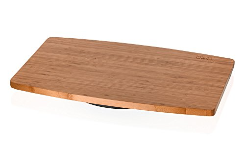 Prosumer's Choice Natural Bamboo TV Swivel Stand for LED/LCD TV, 21 inch Base Surface ()