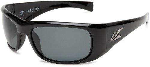 Kaenon Men's Klay Polarized Rectangular Sunglasses, Black, 39 mm