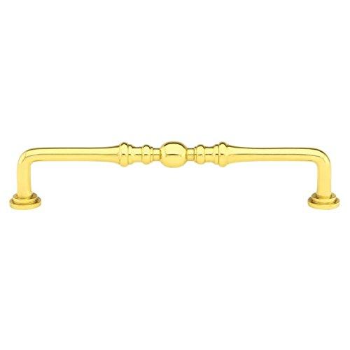 4in Polished Brass Backplate (Emtek 86130US3 EMT Spindle Pull)