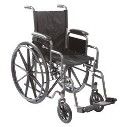 FUK11816DHRSA - Roscoe Medical, Inc. K1 Wheelchair with Swing Away Footrests Desk Length Arms, 18 x 16