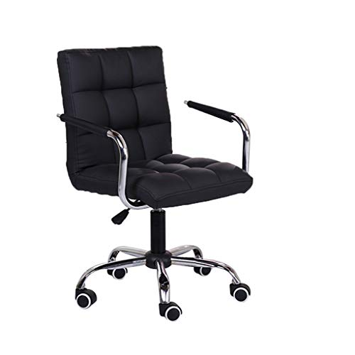 KCPer Ergonomic Adjustable Office Chair with Lumbar Support and Rollerblade Wheels - Thick Seat Cushion - Adjustable Seat Height - Shipped By US