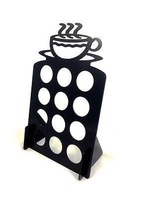 Holds 12 Coffee Keurig K Cups tree pod holder Black Acrylic