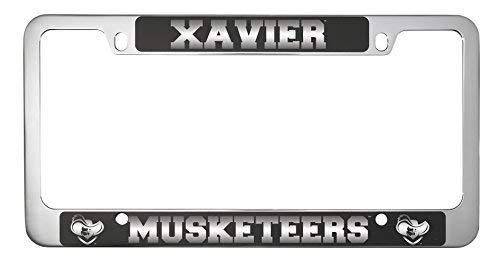 LXG, Inc. Xavier University-Metal License Plate Frame-Black (License Plate Xavier)