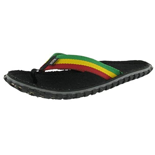 307e60835fb4 chic Bob Marley Fresco Men s Flip Flops Sandals Rasta Print Size 12 ...