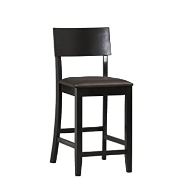 Linon Home Decor Torino Collection Contemporary Counter Stool, 24-Inch