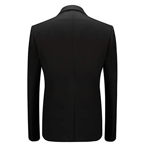 Et Noir Pcs Blazer Smoking Pantalon 3 Costume Party Mariage Veste Homme Costard Gilet nE7YwZOq