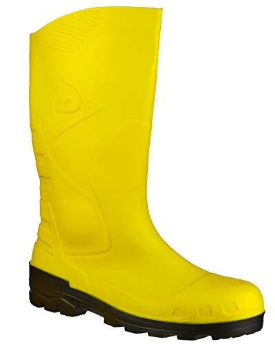- Dunlop DEVON Unisex Steel S5 SRA Safety Wellington Boots Yellow 36