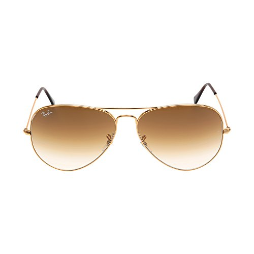 Ray-Ban Women's Oversized Aviator Sunglasses, Gold/Brown, One Size