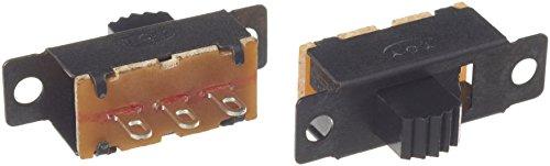 circuit switch amazon com amico 20 pcs dc 50v 0 5a 3 er lug pin 2 position spdt 1p2t mini panel slide switch