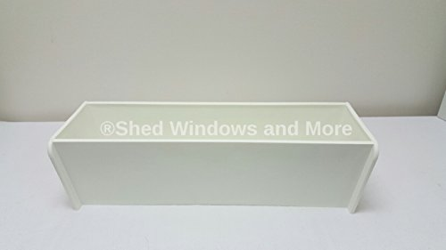 18'' White Flower Box Window Box Sheds Playhouses by Shed Windows and More