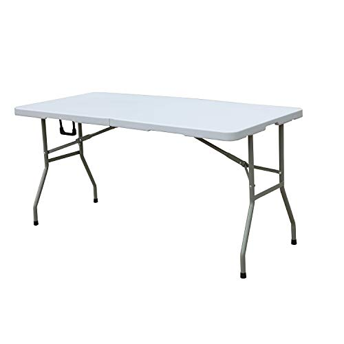 - soges Folding Table 60 by 27.9 inches, Portal Outdoor Folding Utility Table for Garden, Beach, Camping, Picnics, Cookouts, Party, Weatherproof, No Assembly and Easy to Carry, HP-152CZ