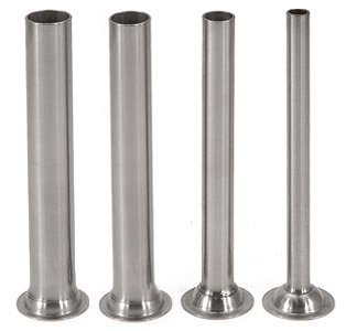 Stainless Steel Stuffing Tubes for 15/20/25/30 lb. Sausage Stuffers, Set of 4 by Sausage Maker