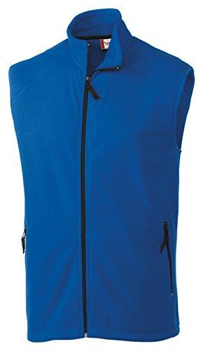 Clique Men's Summit Full-Zip Microfleece Vest, Royal Blue, (Mens Microfleece Vest)