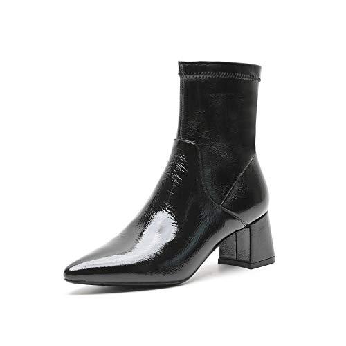 Boots Boots Corta Women's Donna Donna Donna a Stivaletti Punta Alti Black da Punta Tacco con a dFqUpnaq