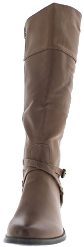 ChaussMoi Boots Camel Women with Thick Heels of 4.5 cm with Decorative Brackets. SZnOn