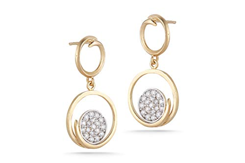 14K Yellow Gold 0.25ct TDW Diamond Accented Dangling -