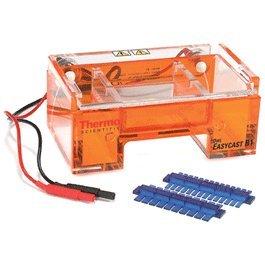 Horizontal Mini Gel (Thermo Fisher Owl B1-BP EasyCast Mini Gel Horizontal Electrophoresis System with Buffer Exchange Port, 11cm L x 9cm W Gel Size)
