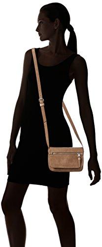 ESPRIT Damen mit Praktischem Innenleben Umhängetaschen, 6x14.5x20 cm Braun (235 Caramel)