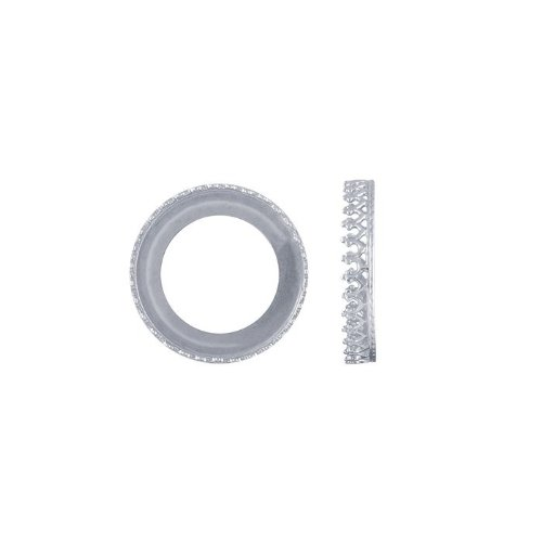 Sterling Silver 20mm Round Gallery Wire Bezel Cup - Wire Gallery Silver