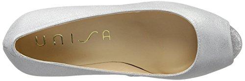 Unisa Nazo_17_mts, Zapatos de Punta Descubierta para Mujer Plateado (Silver)