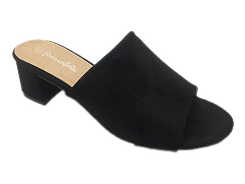 Parzel - Sandalias de vestir de ante para mujer negro