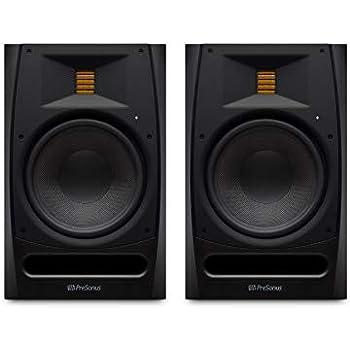 2 presonus r80 150w active powered 8 amt studio monitors with ribbon tweeter. Black Bedroom Furniture Sets. Home Design Ideas