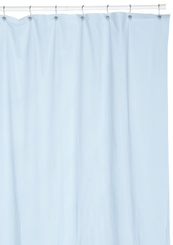 Carnation Home Fashions 8 Gauge Vinyl Hotel Liner, Light Blue (Light Blue Shower Curtain Liner)