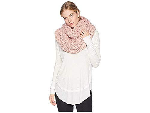 Free People Women's Dreamland Cowl Infinity Scarf, Pink, One Size by Free People