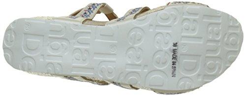 Desigual Bio9 Anissa White Flower, Heels Sandals para Mujer Blanco (white 1000)
