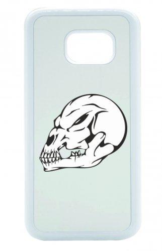 "Smartphone Case Apple IPhone 4/ 4S ""Affenschädel Totenkopf mit dunklem Blick Skelett Rocker Motorradclub Gothic Biker Skull Emo Old School"" Spass- Kult- Motiv Geschenkidee Ostern Weihnachten"