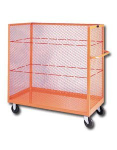 Storage Products Group, 3-Sided Steel Cart, Hgex3042Ts, Size W X L: 30 X 42'', Wt. (Lbs): 175, Option: Optional Casters (H), Gex3042Ts by STORAGE PRODUCTS GROUP