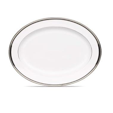 Noritake Austin Platinum Oval Platter, 16-Inch