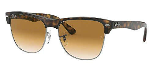 Ray-Ban RB4175 CLUBMASTER OVERSIZED 878/51 57M Demishiny Havana/Gunmetal/Crystal Brown Gradient Sunglasses For Men For Women