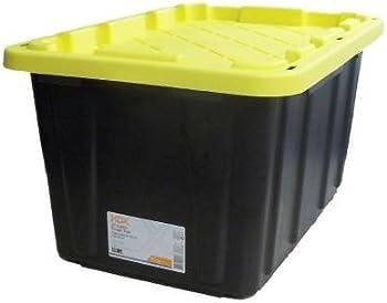 5-Pk. 27 Gal. Polypropylene Plastic Storage Tote