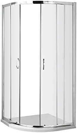 1000 x 1000 mm ValueBaths Fenwick moderno cuadrante ducha cubículo de cristal puerta de pantalla: Amazon.es: Bricolaje y herramientas