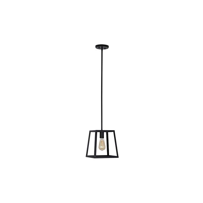 Amazon Brand – Stone & Beam Industrial Open Rectangle Frame Chandelier Pendant Light, LED Bulb Included - 9.5 x 9.5 x 14…